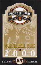 2000 SAN FRANCISCO GIANTS BASEBALL POCKET SCHEDULE