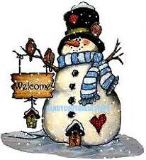 20  WATER SLIDE NAIL ART DECALS TRANSFERS CHRISTMAS BLUE SNOWMAN