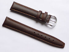 Quality Lug 18mm Brown Genuine Leather Strap With 2 Spring Bar Fits All