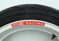 8 x OZ RACING Wheel Rim Stickers - alloys lightweight forged aluminium motorbike