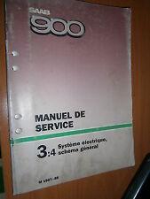 Saab 900 : manuel atelier partie 3:4 Système électrique schémas 1987 1988