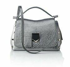 53deb4462f0 Jimmy Choo Women's Metallic Silver Grainy Leather Satchel Handbag Mgl016