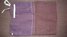 HABITAT Cushion Cover Linen Bolster PURPLE Two Tone Modern Chic NEW LTD RARE!!!!
