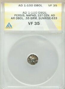 PERSIS KINGDOM. Napad (Kapat) (AD 1st century). AR hemidrachm ANACS VF 35 Rare!