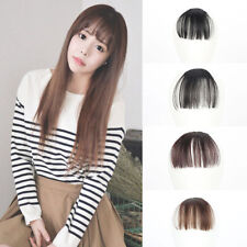 Womens Thin Neat Air Bangs/Fringe Clip In Hair Extension Remy Human Hairpiece