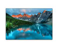 Landschaftsbild Rocky Mountains XXL Kanada Natur Gebirge Berge Fluss Wald Druck