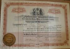 Piute Valley Gold Mining, Milling and Developing Company 1901 antique stock cert