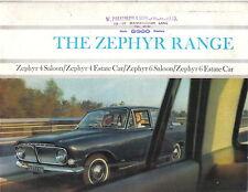Ford Zephyr 4 & Zephyr 6 Range Original UK Sales Brochure Pub. No. H4598/2/64