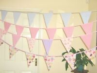 Cupcake Fabric Bunting Girls Party Decorations Princess Tea Party Bunting 8FT