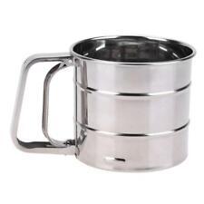 Handheld Flour Shaker Stainless Steel Mesh Sieve Cup Ice Sugar Kitcheb Bake Tool