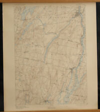 GARDINER Maine Topo Map 15 Min 1900 Richmond Litchfield Bowdoin Kennebec River