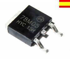 78M05 Regulador de voltage lineal 5v Positivos, 500ma , montaje smd