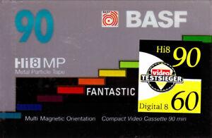 BASF Hi8 VIDEO8 D8 Digital8 90min CAMCORDER CASSETTE NEU, OVP