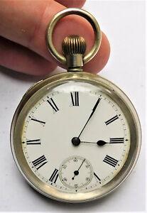 NO RESERVE c1890s Gents OMEGA Pocket Watch Vintage Antique