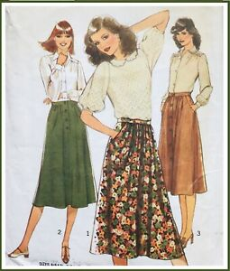 Vintage 1970's LADIES SKIRT Sewing Pattern SIZE 12 / 14 (ST2542)