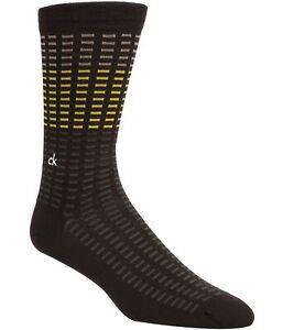 Calvin Klein Mens Tile Midweight Socks, Brown, 7-12