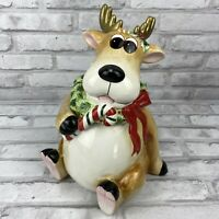 Fitz & Floyd 2004 Reindeer Moose Cookie Jar Canister eBay Exclusive Christmas