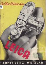 Leitz Prospekt - In Ihre Hände eine Leica