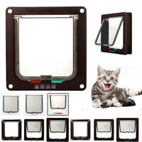Pet door 4 way locking Small Medium Large Dog Cat Flap Magnetic White Frame