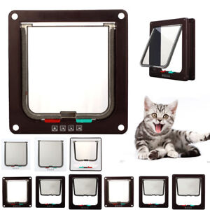 Pet Door Frame 4 way Locking Small Medium Large Dog Cat Flap Magnetic ABS