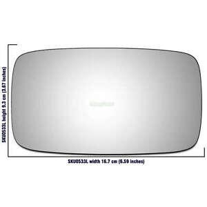 Left Hand Passenger Side mirror glass Porsche 928 1987-1994 533LS