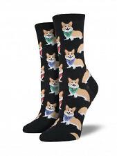 Corgi Dog Socks - Black SockSmith Cotton Womens One Size Fits Most