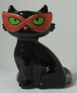 Bath & Body Works SOAP Sleeve holder HALLOWEEN BLACK CAT w/ GLITTER ORANGE MASK