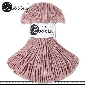 Bobbiny 100 m Flechtkordel 3 mm | Blush | Basteln Baumwolle Hobby PREMIUM