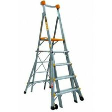 Gorilla Aluminium Adjustable Platform Ladder 1.5m - 2.4m