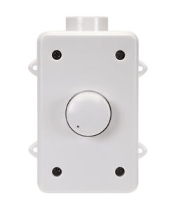 Outdoor Weatherproof Wall Mount Speaker Volume Control Controller RMS 100W White