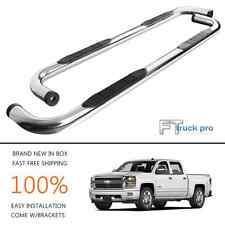 "3"" SS Nerf Bar Step Running Boards For 99-13 Chevrolet Silverado Crew Cab 4 Door"