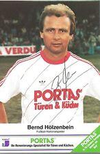 Autogramm AK Bernd Hölzenbein Eintracht Frankfurt weltmeister 1974 DFB PORTAS