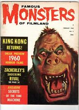 Wow! Famous Monsters Of Filmland #6 King Kong! M.T.Graves! Time Machine! Damaged