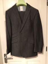 Men's Van Kollem Grey 2 Piece Suit Size 38R