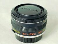 Olympus OM Fit ~ Bell & Howell  2X Teleconverter - Clear Optics,