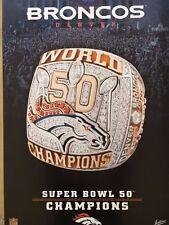 Denver Broncos Super Bowl 50 Championship Ring Poster - 2016 from Jostens