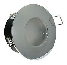 12V Niedervolt Einbaustrahler f. Nassräume IP65 inkl MR16 + GU10 Fassung Dusche