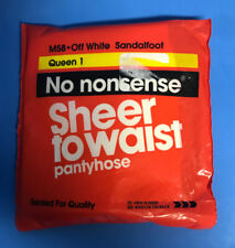 No Nonsense Sheer to Waist Pantyhose Sandalfoot Off White M58 Queen 1
