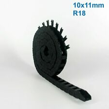 10x11mm R18 Nylon Energy Drag Chain Cable Wire Carrier CNC Router 3D Printer Mil