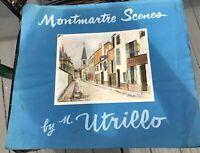 VINTAGE 4 PRINTS PORTFOLIO MONTMARTRE SCENES BY UTRILLO