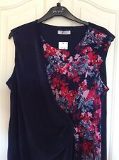 Navy per Una Wrap Style Pleated Sleeveless Top Size 16