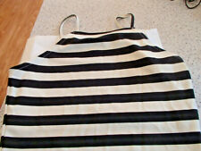 3 X TOPS PRE OWNED--2 BLACK & 1  BLACK AND WHITE STRIPED--2 X SIZE 10 & 1 X 12