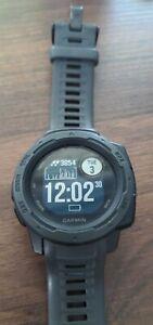 Garmin Instinct Rugged GPS Smart Watch - Graphite (010-02064-00) For Parts Only