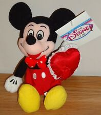"Disney VALENTINE MICKEY MOUSE Bean Bag plush 8"" w/Tag NEW!"