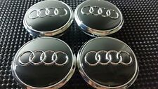 4 pcs, Wheel Emblem Center, Hub Caps, Audi Black, 77 MM Fit: Q7