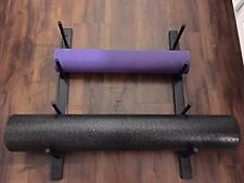 Foam Roller Yoga Mat Storage Rack. Wall Mounting hardware included. Black color.