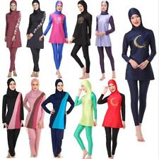 Muslim Women Full Cover Modesty Swimsuit Islamic Swimwear Arab Burkini Beachwear