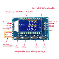 Signal PWM Generator Pulse Frequency Duty Cycle Adjustable Module LCD Display