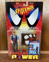 J. Jonah Jameson Vintage Spider-Man Spider Power Action Figure New Toybiz 1999