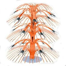 "8.5"" Halloween Mini Orange Spider Cascade Centerpiece Party Table Decoration"